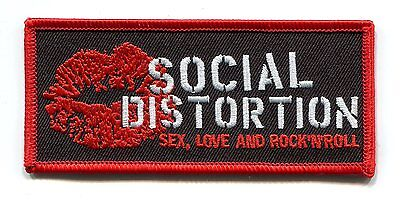 SOCIAL DISTORTION sex, love and rock 'n' roll EMBROIDERED IRON-ON PATCH p-3219