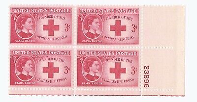 U.S. SCOTT 967 MNH 3 CENT PLATE BLOCK OF 4 1948 - CLARA BARTON - RED CROSS
