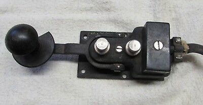 VINTAGE STAMPED US NAVY TELEGRAPH KEY