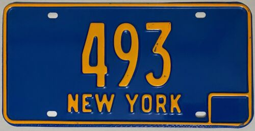 1966-73 Series NEW YORK License Plate - Low Number -  #493