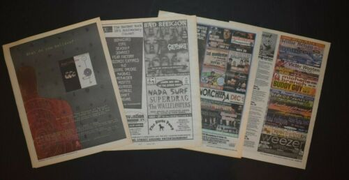 Bad Religion 1996-2005 4PC Concert/Album Instore Ad Lot The Process Of Belief
