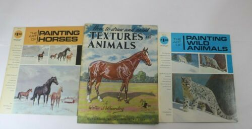 Vintage Painting & Drawing ART Books LOT of 3 Grumbacher Library & Foster Book