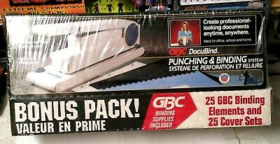 Gbc Docubind Heavy Duty Document 3-hole Punching Binding System Bonus Pack New
