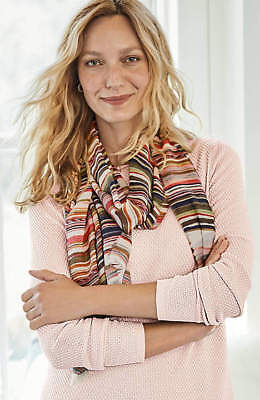 J.Jill  Scarf   NWT   Painterly Stripes Scarf for sale  USA