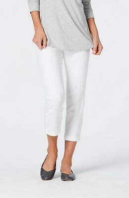 The Limited, womens white capris CROPPED PANTS button pockets stretchy SPRING Ladies Cropped Pants