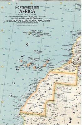 Nat Geo Map Insert:  Northwest Africa (1966)