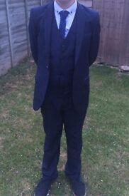 Boys Next Formal Suit Dark Blue Navy colour Aged 12 VGC