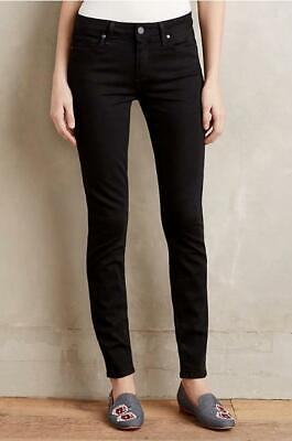 Anthropologie NWT Size 32 Paige Verdugo Ultra Skinny Jeans Mid Rise Black New