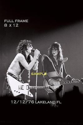 Kiss 1976 8 X 12 Paul Stanley Ace Frehley Photo 1 Lakeland,FL Shock Me