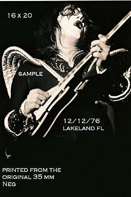 Kiss 1976 Ace Frehley 16 X 20 Photo 2 Lakeland,FL Shock Me