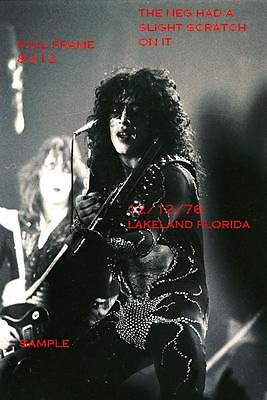 Kiss 1976 8 X 12 Paul Stanley Ace Frehley Photo 2 Lakeland,FL Shock Me