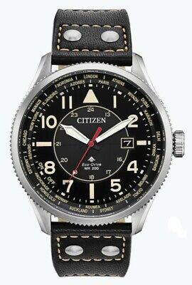 Citizen Eco-Drive Men's World Time Perpetual Calendar 44mm Watch BX1010-02E