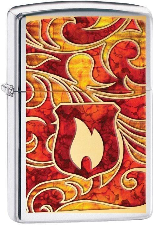 Zippo Choice Flame Fusion Shield Logo Lighter High Polish Chrome 28968 NEW L@@K