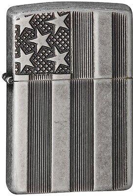 Zippo Choice Flag Armor Antique Silver 28974 Lighter