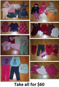 2T Girls Clothing Lot 3 (Take 47 Pieces for $60)