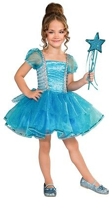 Blue Tutu Princess Costume Magic Wand Cinderella Dress Girls Kids Child S NEW