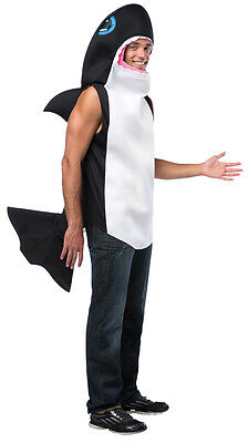 Orca Whale Costume (Killer Whale Costume Adult Orca Mens Shamu Halloween Mascot Funny Humorous)