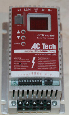 Ac Techlenze Sm004s-882 .33 Hp Vfd Motor Drive 1ph In 3ph Out