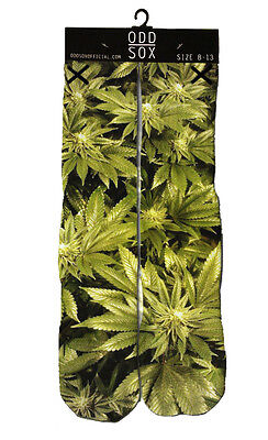 Odd Sox Womens Knee High Marijuana Weed Smoking Dope Sublimated Socks 5-11 NWT (Smoking Socks)