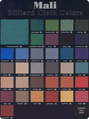 - Mali 7' Pool Table Felt Cloth Choose Your Color
