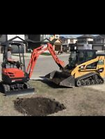 TRENCHING - WEEPING TILE - MINI EXCAVATOR FOR HIRE.