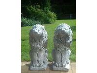 Two concrete Lions