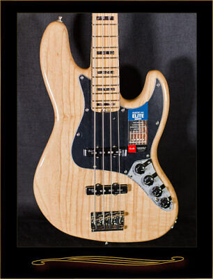 Fender American Elite Jazz Bass with Maple Fretboard in Natural