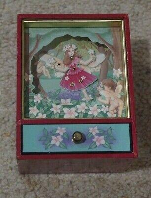 Sankyo Shoji Dancing Fairy Jewelry Music Box Plays Tennessee Waltz
