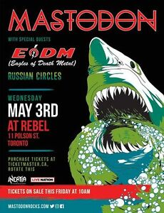 Mastodon, Eagles of Death Metal and Russian Circles