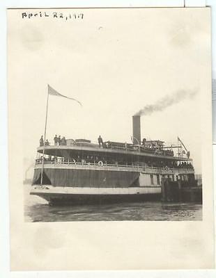 1917 Detroit Michigan S S Promise, Great Lakes Ferry Boat; Bob-Lo original photo
