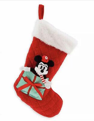 Disney Store Minnie Mouse Christmas Stocking Holiday Plush