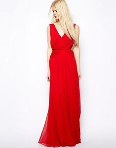 MANGO Red Grecian-style inspired gown - size M (8-10)