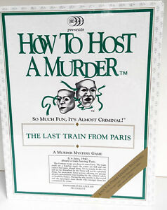 HOW TO HOST A MURDER still in original wrapping