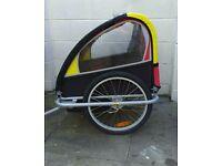 Revolution double child's bike trailer