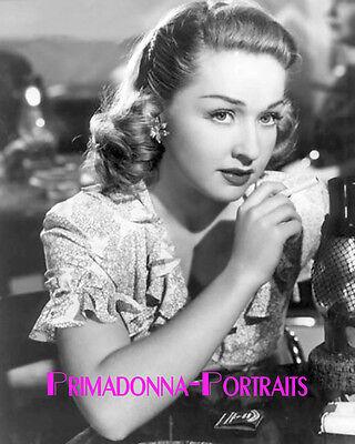 BONITA GRANVILLE 8X10 Lab Photo B&W '40s Elegance High Fashion Youthful Portrait