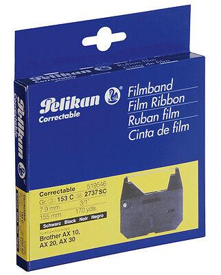 2x Pelikan Farbband Gr. 153C, Correctable schwarz 519546, NEU & OVP