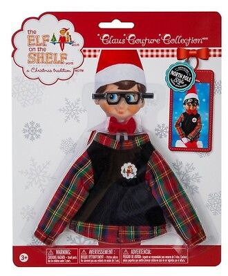 Hip Holiday Boy Plaid Sweater + Glasses Elf on the Shelf Claus Couture Clothes - Boy Elf On The Shelf Clothes