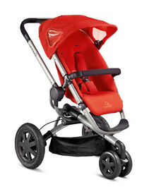 Red Quinny Buzz pushchair and newborn insert