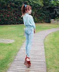 BRAND NEW Lolita Fashion Denim Heart Pants (Overalls) Kitchener / Waterloo Kitchener Area image 1