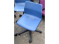 Plastic swivel computer chairs