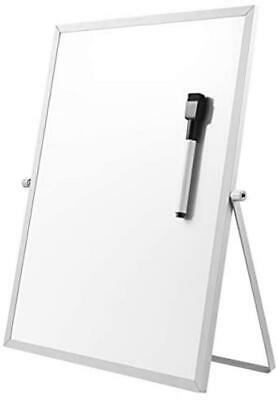 Stobok Magnetic Dry Erase Board With Stand For Desktop Double Sided White