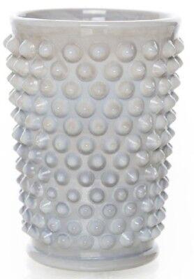 Tumbler - Hobnail Gigi Pattern - Gray Swirl Marble Glass - Mosser USA