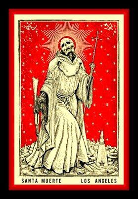 "4.75"" Santa Muerte LA vinyl sticker. Grim Reaper, Catholic Angel of Death decal."