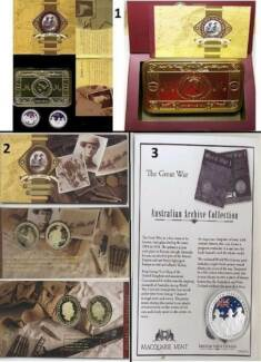 2005 GALLIPOLI $1 Proof-Silver Proof Coins-3 Different Sets. $75+ Wembley Cambridge Area Preview