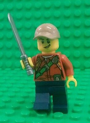*NEW* Lego Jungle Explorer Adventurer w Machete Sword Minifig Figure Fig x 1 ()