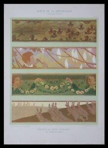 FRISES ENFANTS ET ANIMAUX -1901- LITHOGRAPHIE, ART NOUVEAU, JULES DUVINAGE - France - Période: XXme et contemporain - France