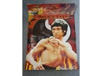 TWO Bruce Lee Posters Laminated approx 60cm x 40cm