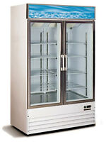 *LOW PRICE*~ SINGLE OR DOUBLE GLASS DOOR FREEZER <--NOT USED