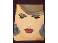 Pop Art. *Original painting* of Taylor Swift