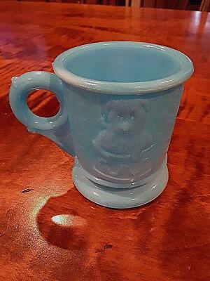 Vintage Blue Milk Glass Child's Cup *Mint*